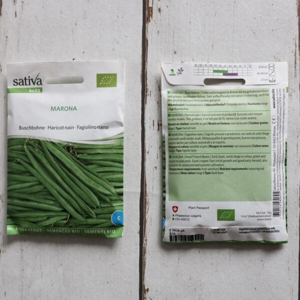 Buschbohne MARONA Bio-Saatgut von Sativa