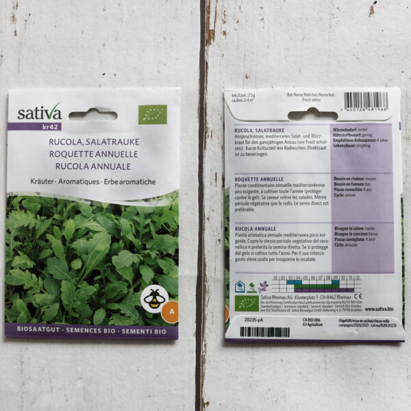 Rucola Bio-Saatgut von Sativa
