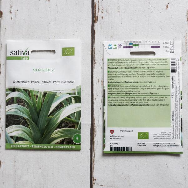 Winterlauch Siegfried 2 Bio-Saatgut von Sativa