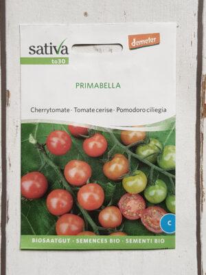 Tomate PRIMABELLA Bio-Saatgut von Sativa Cherrytomate