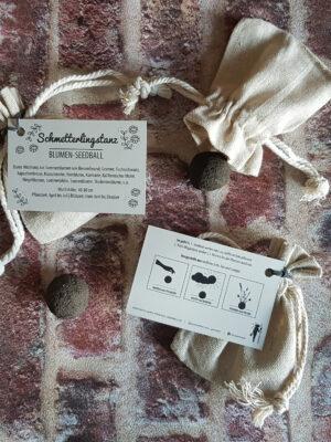 Seedball im Leinenbeutel, Geschenkidee, Gastgeschenk Hochzeit